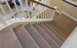 Ковровая дорожка на лестницу своими руками