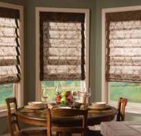 Как крепятся римские шторы к пластиковому окну