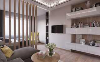 Красивый дизайн однокомнатной квартиры в современном стиле