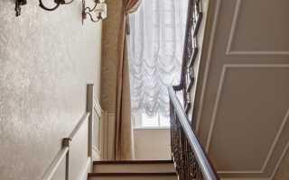 Шторы на лестницу в частном доме