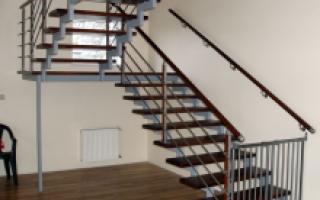 Принцип построения двухмаршевой лестницы