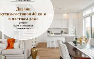 30 идей дизайна кухни-гостиной 40 кв