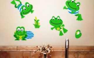 Веселая ванная: декоративные стикеры и наклейки для детей