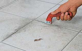 Как отремонтировать плитку на полу