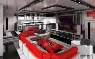 Кухня-гостиная в стиле; хай-тек: особенности современного интерьера