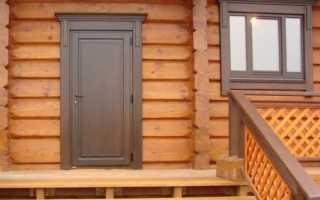 Какие входные двери для бани лучше