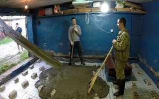 Как правильно залить бетоном пол в гараже своими руками, пошаговое руководство и пропорции