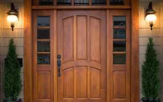 Двери входные деревянные утепленные