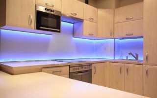 Как сделать подсветку рабочей зоны кухни светодиодной лентой своими руками