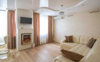 Дизайн натяжных потолков в гостиной; 77 фото идей