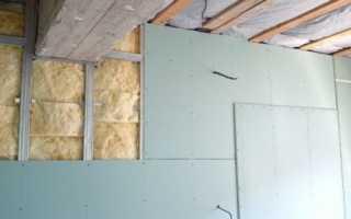 Как утеплить стены изнутри минватой плюс гипсокартон
