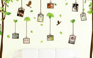 Стикеры и наклейки для стен в квартире: виниловые, декоративные объемные или самоклеющиеся для стен коридора, гостиной, зала, спальни и детской