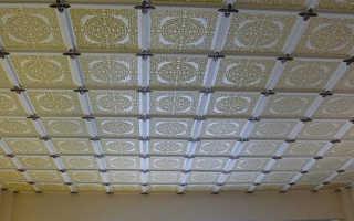 Плитка из пенопласта – современный и недорогой вариант отделки потолка