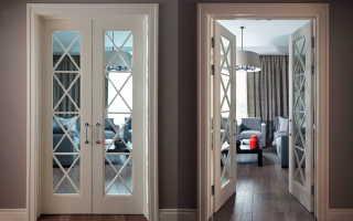 Размеры двойных распашных межкомнатных дверей: ширина,высота для установки