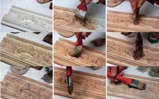 Покраска потолочных плинтусов: цель и процесс