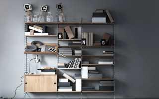Стеллажи в интерьере; правила оформления, разновидности и фото идеи
