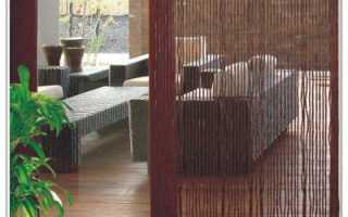 Шторы из дерева и бамбука на дверной проем