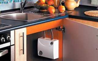 Как подобрать проточный электрический водонагреватель для кухни