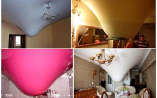 Почему может провисать натяжной потолок? (7 фото)