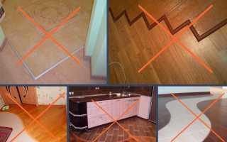 Как сделать технологичный стык между плиткой и ламинатом