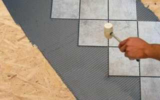 Наклеивание кафельной плитки на OSB листы